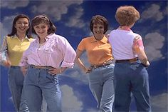 Pin for Later: What Moms Have to Deal With When Working Out Sometimes this is your biggest motivator: to never have to succumb to mom jeans. Source: NBC