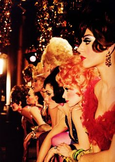 Las Vegas Show Girls of the 1960s retro