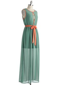 Age of Aquamarine Dress, #ModCloth.  What about the sash?  Doesn't go really?