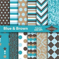 BUY 3 GET 1 FREE! BUY 5 GET 2 FREE!  Blue  brown digital paper, brown background, brown scrapbook paper, blue digital paper pack, paper, digital download, printable paper.   Printable paper. Use for Scrapbooking, Cardmaking, Handmade Stationery, Invitations, Tags, Wrapping Paper, Books and Journals Hardcovers, Decorated Furniture, Packaging, Crafts for Weddings, Birthdays, Parties and much more..  YOU WILL RECEIVE:  - 12 jpg files in zipped folders * 12x12 inches (3600px x 3600px) * 300 dpi…