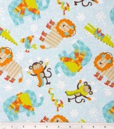 Snuggle Flannel Fabric- Snowy Safari & snuggle flannel at Joann.com