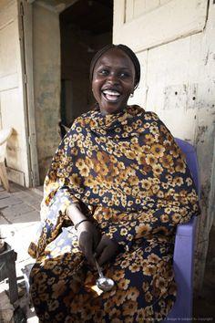 tea-lady in the town of Shendi, Sudan, Africa