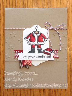 Get your Santa on early with this adorable stamp set!