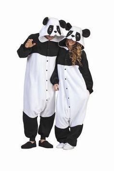 PARKER THE PANDA BEAR ADULT COSTUME BLACK WHITE ANIMAL PAJAMAS COSTUMES JUMPSUIT