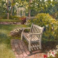 Image result for painting park  bench