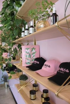 Gennifer Rose - Holy Matcha in San Diego Nail Salon Design, Nail Salon Decor, Beauty Salon Decor, Salon Interior Design, Beauty Bar, Boutique Interior, Clothing Store Interior, Boutique Decor, Makeup Studio Decor
