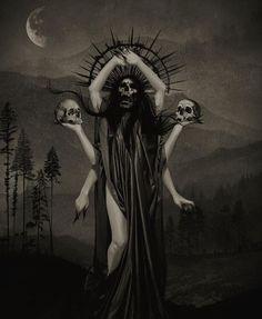 Dark art for our inner demons — schizophrenie-paranoide: by esther limones Dark Fantasy, Fantasy Art, Mother Mary Tattoos, Jesus Drawings, Scary Tattoos, Tatoos, Renaissance Kunst, Satanic Art, Dark Artwork