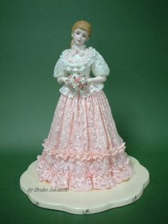 Lace Draping Porcelain Doll | Lace Draping Doll