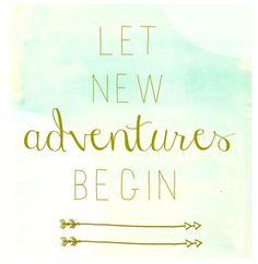 Let new adventures begin - www.instawall.nl