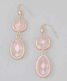 Rose & Gold Double Crystal Drop #Earrings by Rivka Friedman on #zulily