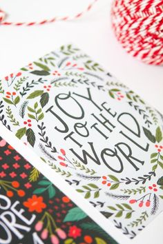 Joy to the World Hand Lettered Print Christmas by alexazdesign