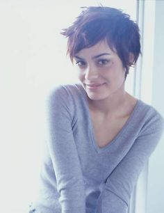 Messy pixie.  I want this.