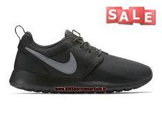 Nike Roshe Run/One - Chaussure de Nike Sportswear Sale Pour Homme Noir/Argent…