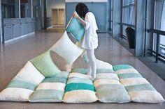 couverte en oreillers cour arrière