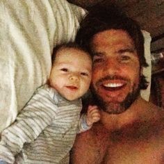 Mike Fisher Shares Photo of Himself and Baby Isaiah—See the Adorable (and Shirtless) Pic!  Mike Fisher Instagram