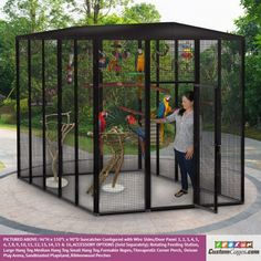 x x Outdoor Cat Cage – A List Enterprises – Cat playground outdoor Large Dog Cage, Large Parrot Cage, Large Bird Cages, Outdoor Cat Cage, Outdoor Cat Enclosure, Outdoor Cats, Diy Bird Cage, Glass Cages, Cat Cages