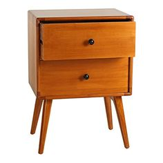 Midcentury Modern Antique Revival Tristan Mid-Century Modern Side Table, Natural