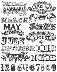 MONTHLY TITLE LABELS