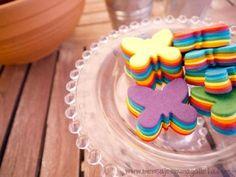 biscoitos coloridos