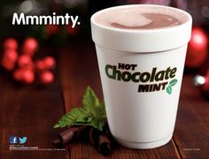 Mmminty! Dunkin' Mint Hot Chocolate to keep the holiday season running.