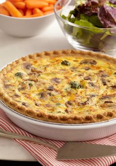 Broccoli & Cheddar Quiche – You'll enjoy our easy-to-make quiche. It's a cup of broccoli, a cup of cheddar—and a secret tangy ingredient—all baked into a deep-dish pie crust!