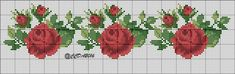 This Pin was discovered by Ber Cross Stitch Rose, Cross Stitch Borders, Cross Stitch Flowers, Cross Stitch Patterns, Loom Beading, Beading Patterns, Funny Engagement Photos, Christmas Cross, Embroidery Stitches