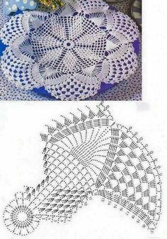 Home Decor Crochet Patterns Part 165 - Beautiful Crochet Patterns and Knitting Patterns Crochet Doily Diagram, Crochet Mandala Pattern, Cotton Crochet Patterns, Knitting Patterns, Thread Crochet, Crochet Stitches, Crochet Dollies, Crochet Tablecloth, Crochet Home