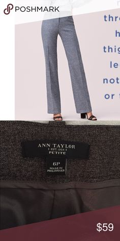 BRAND NEW Ann Taylor Work Trousers Ann Taylor Petite 6P polyester/wool trousers. Brand new. Dry clean only. Ann Taylor Pants Trousers