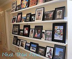 diy picture gallery shelves, home decor, shelving ideas, wall decor