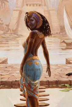 Isis: The Egyptian Goddess Black Love Art, Black Girl Art, Art Girl, Ancient Egypt Art, Goddess Art, Egyptian Goddess, Egyptian Women, Isis Goddess, Black Goddess