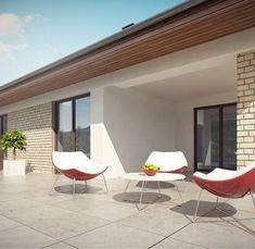 Z301 to wyjątkowy dom z kategorii projekty domów z opcjonalnym poddaszem Small House Design, New House Plans, Home Design Plans, African Design, New Homes, Construction, Windows, How To Plan, Outdoor Decor