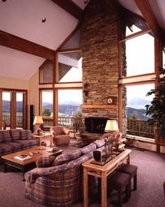 1000 images about fireplace ideas on pinterest for Log cabin sunroom additions