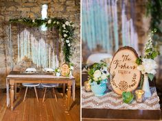 Woven tapestry sweetheart table backdrop