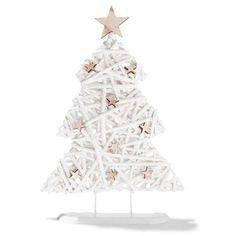 Wicker Christmas Tree - white