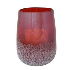 Pacific Accents Savoy Speckled Glass Hurricane w Timer Candle (Cranberry) by Flipo. $33.65. Crafted of colored glass with white speckled accents Instant ambience for a dinner table, mantel, or shelf. This glass hurricane holds a flameless candle that lends a cozy glow to any setting. Set the timer to 4 or 8 hours for a lovely atmosphere every evening.. Color: Cranberry. Pictured in Cranberry. Pictured in Cranberry . Crafted of colored glass with white speckled accen...