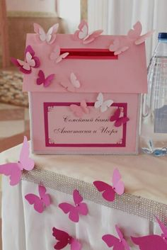 Wedding Tips – Fine Weddings Butterfly Party Decorations, Baby Shower Decorations, Wedding Decorations, Butterfly Birthday, Butterfly Wedding, Homemade Business, Gift Card Boxes, Paper Flower Backdrop, Card Box Wedding