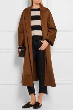 Max Mara - Labro Oversized Cashmere Coat - Brown - UK8