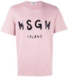 MSGM logo print T-shirt | FARFETCH saved by #ShoppingIS