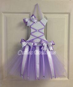 Tutu Vestido de pelo arco titular lavanda regalo por CutiesBoutique