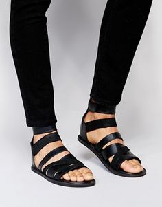 Sandals by ASOS -100% real leather upper -Multi-strap design -Zip back fastening -Open toe