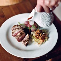 Crunchy Almond-Crusted Duck Breasts w/ Chanterelle Salad // More Duck Recipes: http://www.foodandwine.com/slideshows/duck #foodandwine