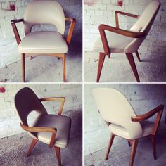Vintage 1960s Benchair Mid Century Chair Bentwood Arms Dinning Office
