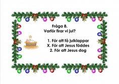 Mariaslekrum - Illustrerade frågeslingor. Teaching Materials, Mandala Art, App Design, Crafts For Kids, Preschool, Education, Christmas Ornaments, Frame, Creative
