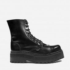 Underground Shop   Triple Sole Steel Caps Black Leather   Boots,Shoes,Creepers,England,Creepers
