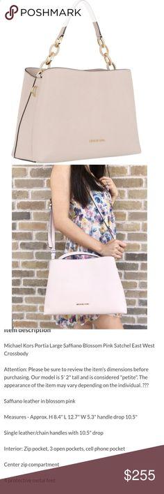 52639f11750dde Michael Kors Large Saffiano Leather Bag Michael Kors bag, gorgeous nude  blush color. East