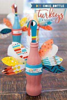 Thanksgiving Craft - DIY Coke Bottle Turkeys!