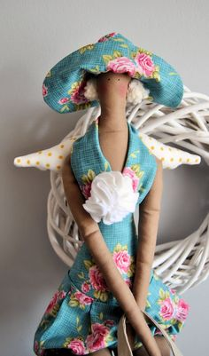 Tilda doll angel - coming back from the beach. $32.00, via Etsy.