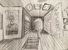 1-Point Perspective Galleries (8th Grade) howardkanter.com