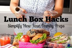 Lunch Box Hacks - Simple ideas to help you save time and money while navigating school lunch packing!!! Sunshine and Hurricanes
