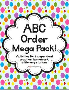 "This product contains 83 pages of ABC Order activities for K-2 students. These activities are perfect for independent practice, homework, or literacy stations/centers. Includes 12 printable worksheets, word cards for each month, 20 ABC Order Task Cards, 7 Cut & Paste printable worksheets, ABC Order sheets for spelling words, ""The Name Game,"" ""ABC Order Bags"""